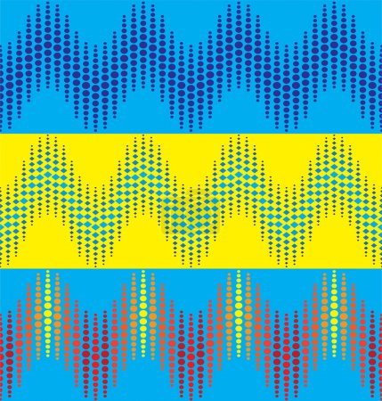 wavy dotted line patterns