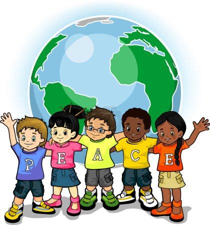 Children united world of peace