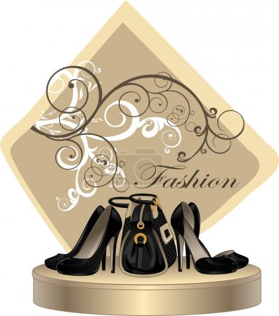 Shoes and fashion handbag