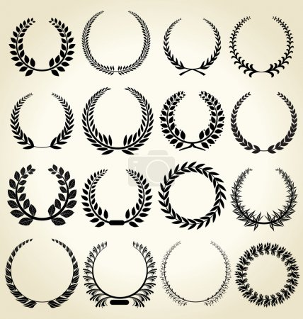 Laurel wreath - set