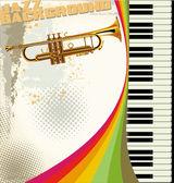 Retro jazz background