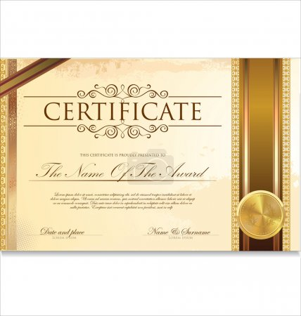 Illustration for Certificate or diploma template, vector illustration - Royalty Free Image