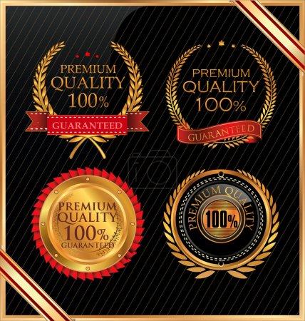 Illustration for Premium quality different retro badge - Royalty Free Image