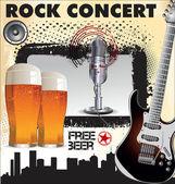 Rock concert free beer