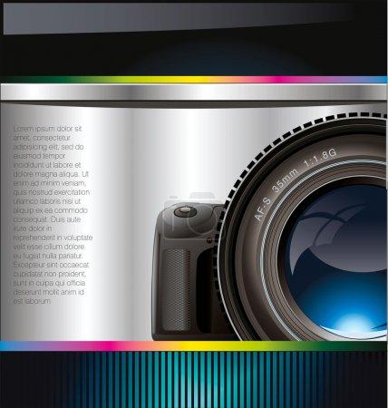 Camera lens background
