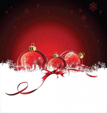 Illustration pour Noël et nouvelle conception de l'année - image libre de droit