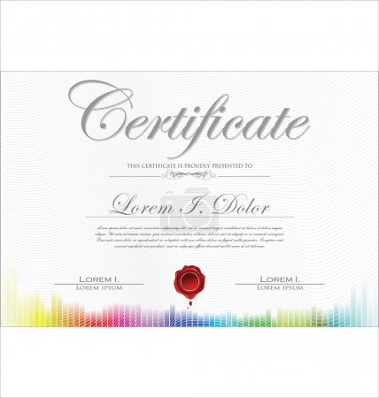 Illustration for Colorful certificate template - Royalty Free Image