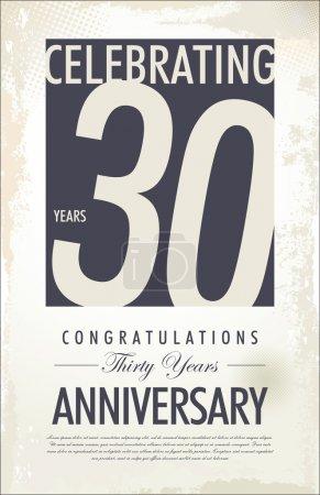 30 years anniversary retro background