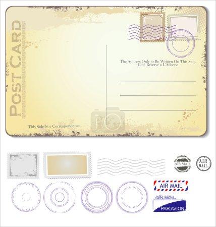 Illustration for Vector vintage postcard - Royalty Free Image