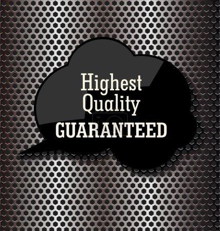 Illustration pour Premium discours de bulle de qualité sur fond métallique - image libre de droit
