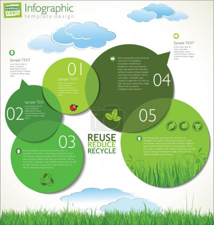 Illustration for Modern ecology design template - Royalty Free Image