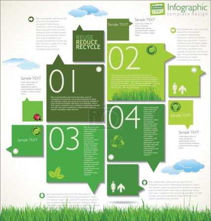 Illustration for Modern ecology design template - Royalty Free Image
