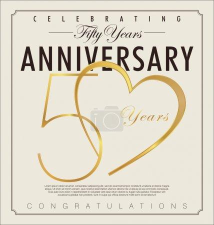 50 years anniversary background...