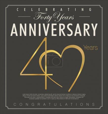 40 years anniversary background