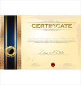 Modello di certificato o diploma, illustrazione vettoriale