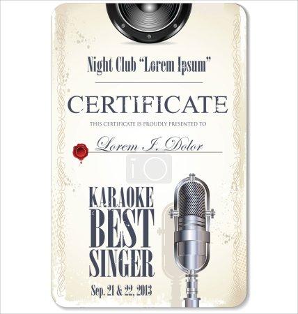 First award certificate karaoke template