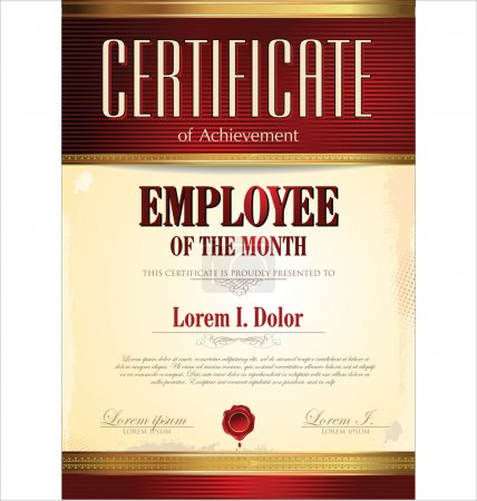 Diploma, employee of the year