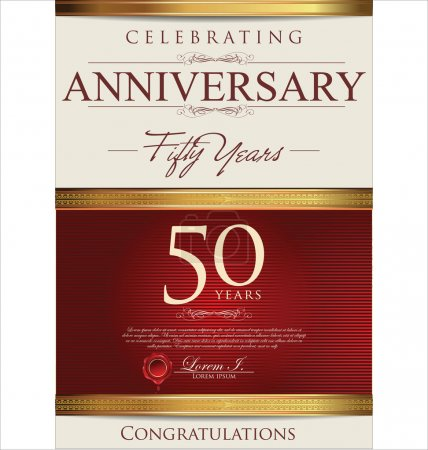 Illustration for 50 years anniversary background - Royalty Free Image