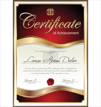 Illustration pour Modèle de certificat - image libre de droit