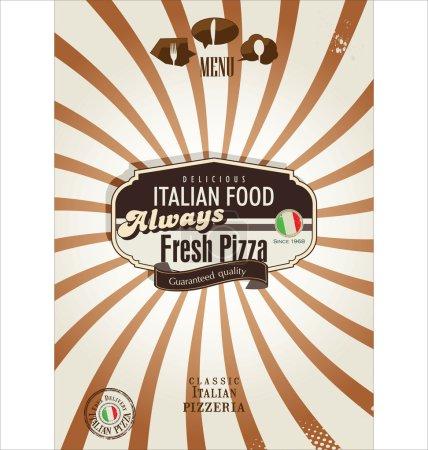 Illustration pour Pizza fond rétro - image libre de droit