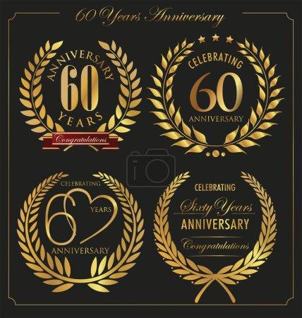 Anniversary golden laurel wreath, 60 years