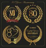 Anniversary golden laurel wreath 80 years