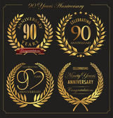 Anniversary golden laurel wreath 90 years