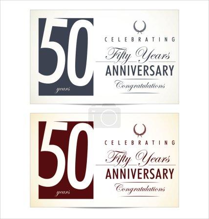 Anniversary background, 50 years