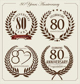 Anniversary laurel wreath 80 years