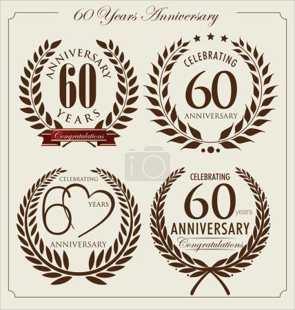 Anniversary laurel wreath, 60 years
