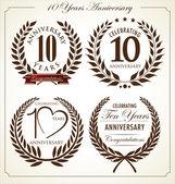 Anniversary laurel wreath 10 years