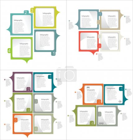 Infographic design template collection