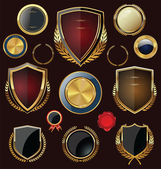 Golden Shields labels and laurels collection