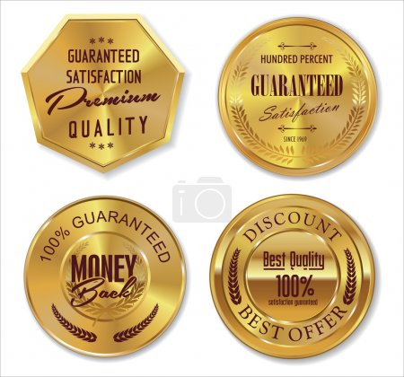 Illustration for Set of premium quality labels, collection - Royalty Free Image