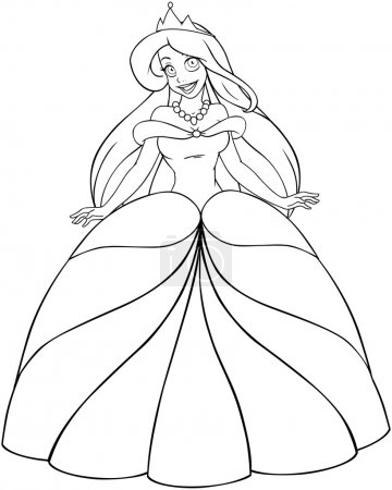 Caucasian Princess Coloring Page