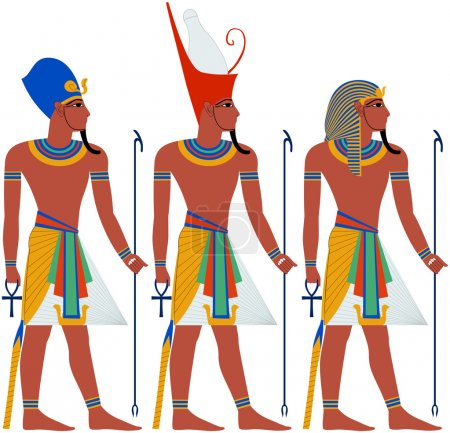 Photo for Vector illustration of ancient Egypt Pharaoh three pack - Royalty Free Image