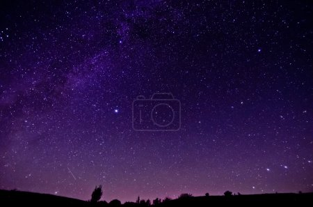 Photo for Milky Way and Sars night sky background - Royalty Free Image