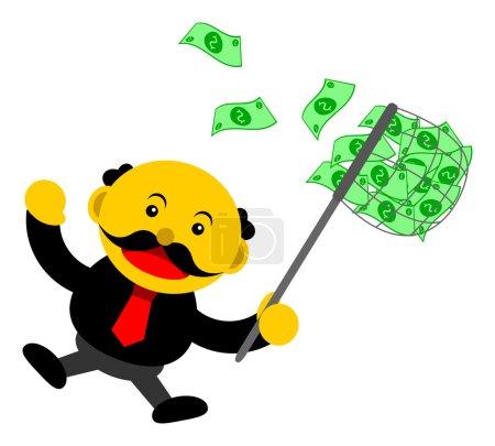 illustration vectoriel graphique personnage de dessin animé de l'homme d'affaires