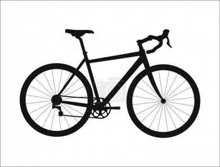Illustration for Silhouette of a bicycle - Royalty Free Image