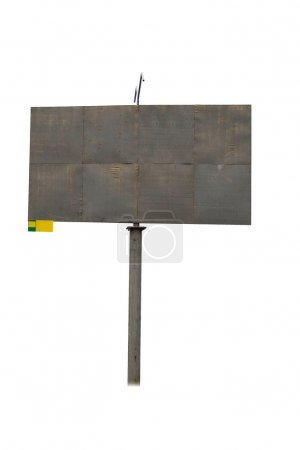 Photo for Plywood billboard on a white background - Royalty Free Image