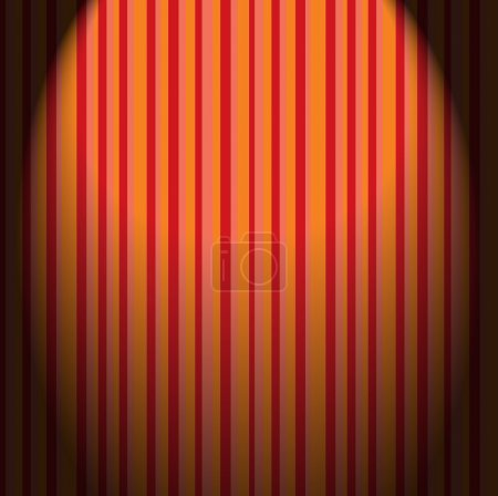 retro wallpaper stripes in red, yellow, pink colors with a shado