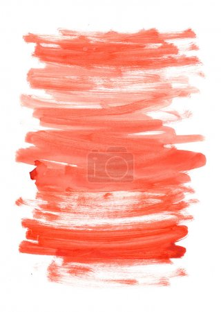 Photo for Abstract red watercolor background for your design - Royalty Free Image