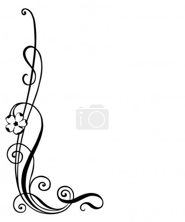 Illustration for Vector illustration of floral ornament , corner decoration - Royalty Free Image