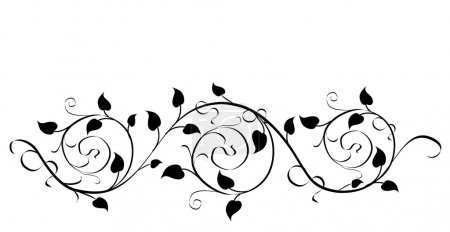 Illustration for Floral design elements - vector illustration black color - Royalty Free Image