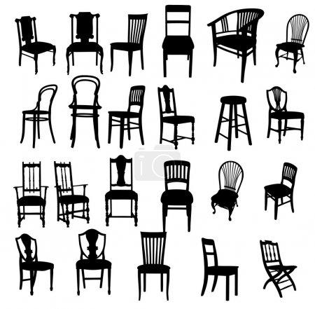 Illustration for Set of antique furniture vector illustration - Royalty Free Image