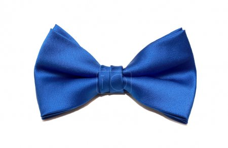 Photo for Blue bow tie isolated on white background - Royalty Free Image