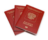Russian passport isolated on white background
