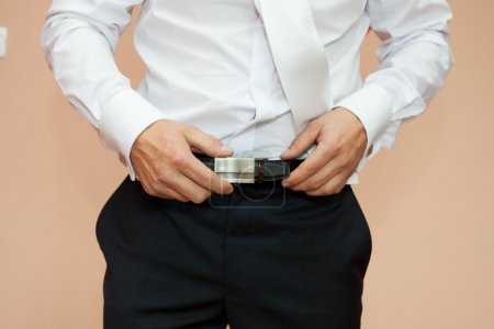 Dress up a belt with buckle