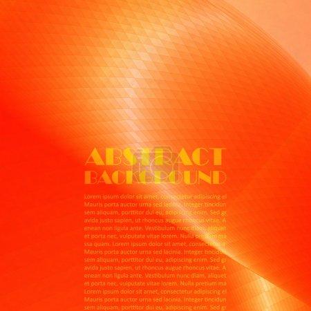 Ilustración de Fondo naranja de curvas calientes abstractas - Imagen libre de derechos