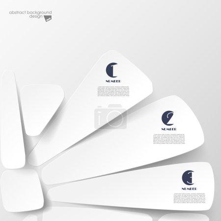Illustration pour Fond d'options de papier avec les numéros - image libre de droit